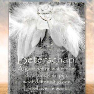 Teksttegel met engel
